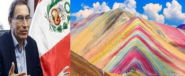 """Martín Vizcarra: """"Montaña de Siete Colores es importante área natural que será preservada"""""""