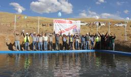 CHUMBIVILCAS:Hudbay Perú inaugura sistema de riego por aspersión para Livitaca