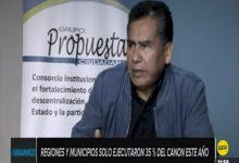 NACIONAL:Regiones y municipios solo ejecutaron 35% del canon este año