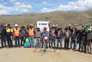 CHAMACA:Comunidad de Uchucarcco y Hudbay Perú inauguran juntos nueva trocha carrozable
