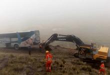 CHUMBIVILCAS:Pasajeros viven momentos de terror en bus que quedó al borde del abismo