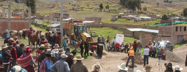 LIVITACA:Municipalidad de Livitaca y Hudbay Perú inician obras de pavimentación de principales calles del distrito