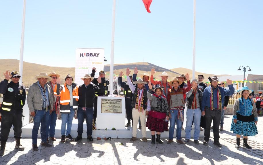 CHUMBIVILCAS:Hudbay Perú y la comunidad de Chilloroya inauguran nueva  Plaza de Armas